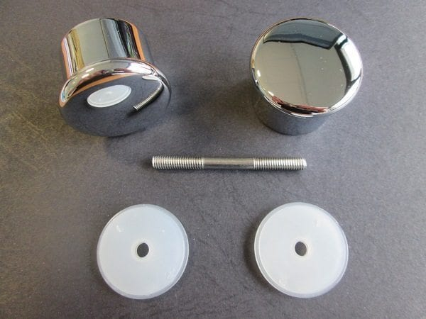 poign e bouton rond chrome pour porte de cabine de douche la paire. Black Bedroom Furniture Sets. Home Design Ideas